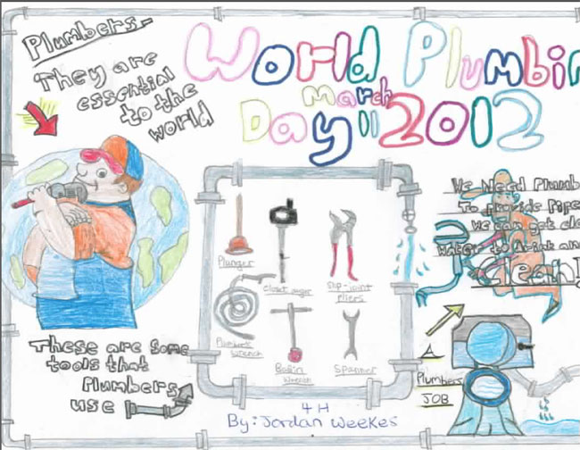 2012 World Plumbing day winning poster